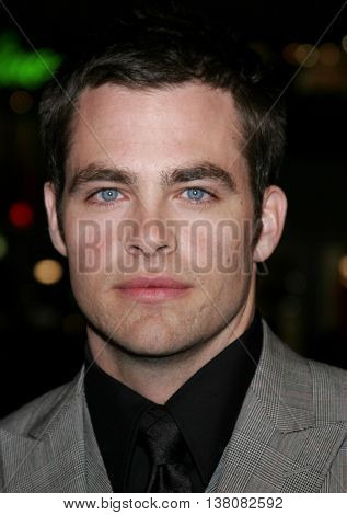 Chris Pine at the Los Angeles premiere of 'Smokin' Aces' held at the Grauman's Chinese Theatre in Hollywood, USA on January 18, 2007.