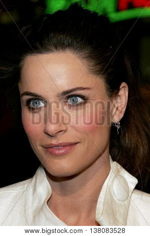 Amanda Peet at the Los Angeles premiere of 'Smokin' Aces' held at the Grauman's Chinese Theatre in Hollywood, USA on January 18, 2007.