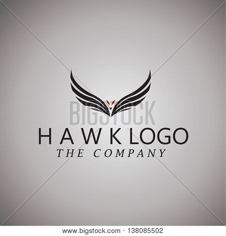 hawk logo ideas design vector on background