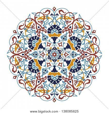 round design element with turkish ornament