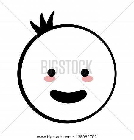 flat design happy baby icon vector illustration stick figure
