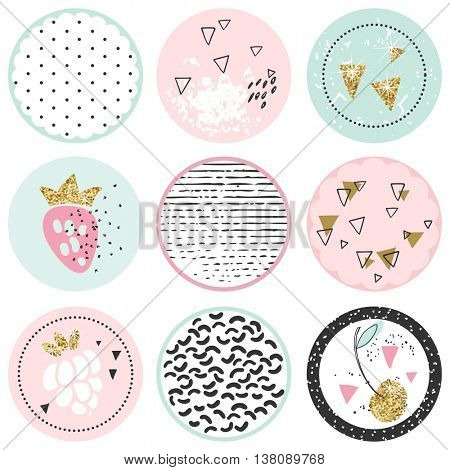 shabby chic circle tags