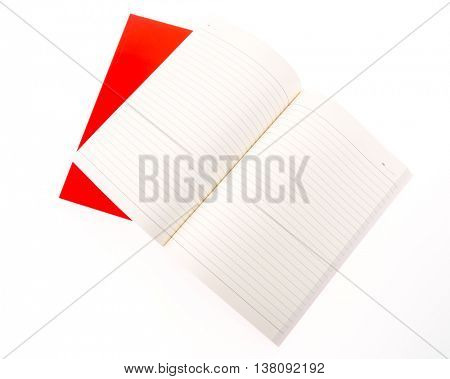 Red Blank catalog,brochure, magazines,book mock up on white background