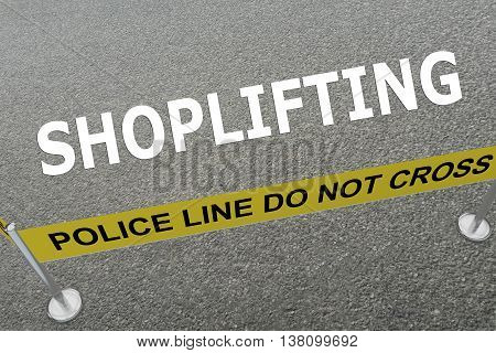 Shoplifting Police Concept