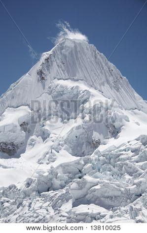 Beautiful Alpamayo peak in the Cordillera Blanca,Peru