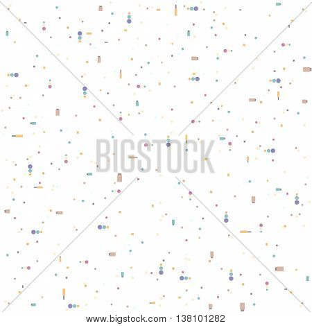Multi-colored dots on a white background. EPS 8 vector