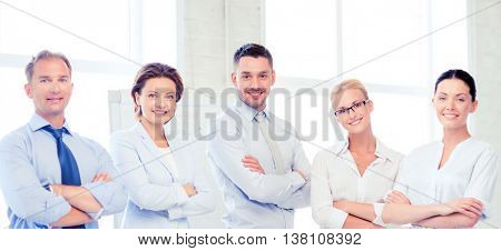 picture of friendly business team in office