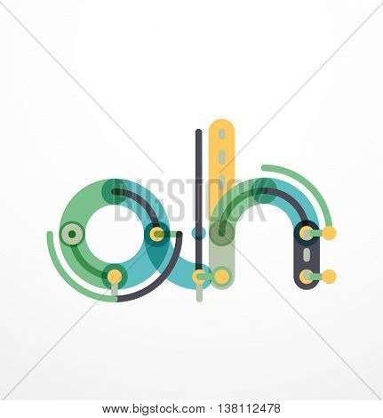 Colorful funny cartoon letter icon. Business logo design