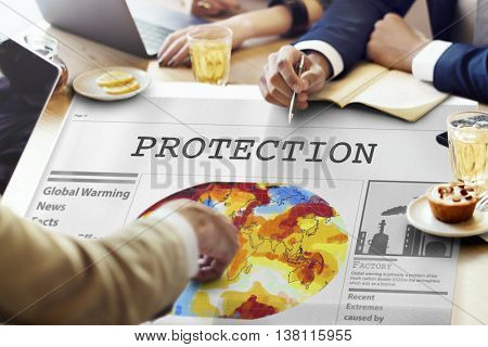 Protection Insurance Privacy Safety Surveillance Concept