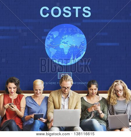 Costs Money Banking Accounting Finance Concept