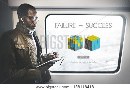 Failure Success Achievement Excellence Failing Concept