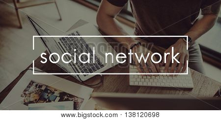 Social Network Connection Internet Sharing Chat Concept