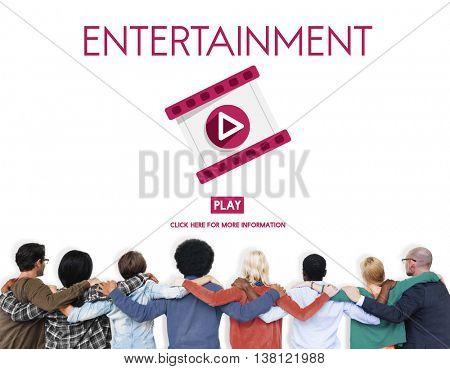 Entertainment Multimedia Technology Amusement Concept