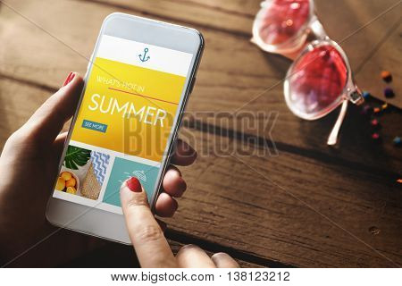 Summer Relaxation Coast Paradise Chill Explore Concept
