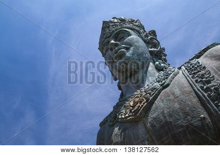 Vishnu statue in GWK cultural park Bali Indonesia