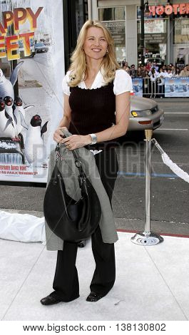 Lucy Lawless at the World premiere of 'Happy Feet' held at the Grauman's Chinese Theatre in Hollywood, USA on November 12, 2006.