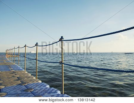 sea pier on the Egyptian resort
