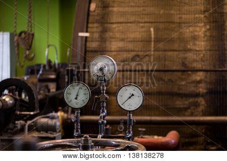 Vintage Mining Winch Empowered By Steam Engine.