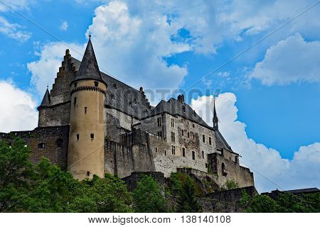 The Castle in the City of Vianden, Luxemburg