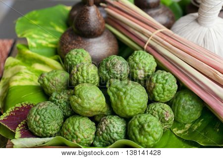 Kaffir Thai herbals are seasoning and ingredient for almost of Thai food such as TOM YUM KUNG and can use of natural SPA as well