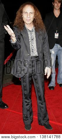 Ronnie James Dio at the Los Angeles premiere of 'Tenacious D: The Pick of Destiny' held at the Grauman's Chinese Theatre in Hollywood, USA on November 9, 2006.