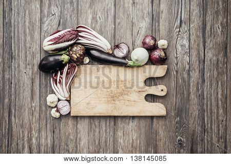 Purple And White Vegetables