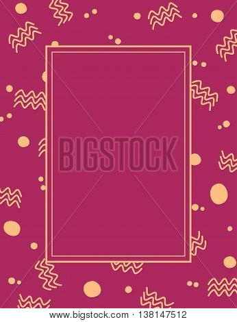 Abstract maroon traditional frame vector background design