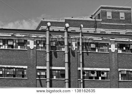 Abandoned Urban Factory - Worn Broken and Forgotten