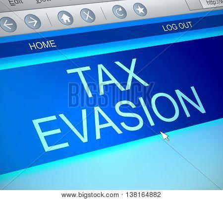 Tax Evasion Concept.