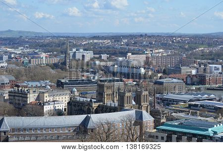 Bird-eye View Over Bristol, taken from Cabot Tower