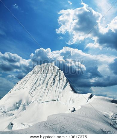 Alpamayo peak in Cordilleras mountain,Peru