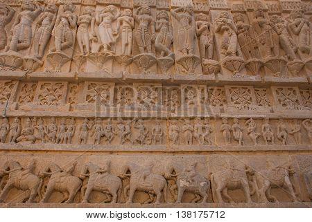 Jagdish Mandir Temple. Udaipur, India. Fragments Of Walls.