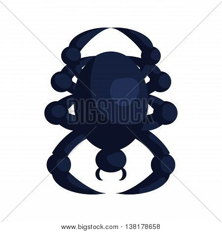 Halloween spider icon in cartoon style on a white background