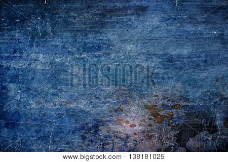 Old Blue Scratched Background.