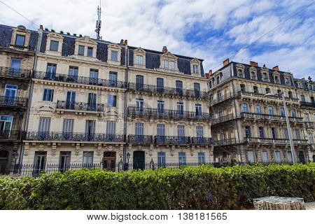 Detail of the buildings at Montpellier France