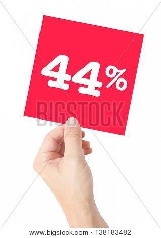 44 percent on white