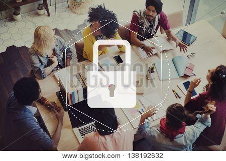 Lock Permission Access Permission Graphic Concept