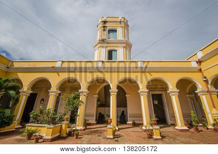 TRINIDAD - CUBA, JUNE 15, 2016: The Municipal History Museum is housed in the beautiful neoclassical Palacio Cantero built in the early 1800s by a wealthy owner of a sugar mill.