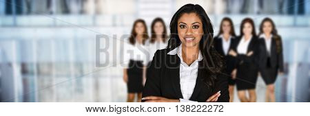 Business team of woman in the office
