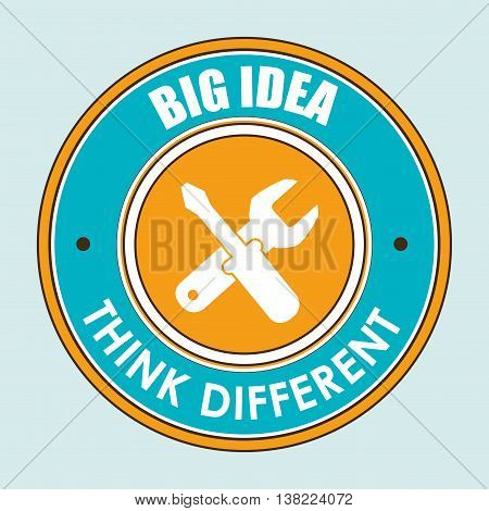 think different isolated icon design, vector illustration  graphic