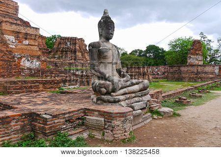 A beuatiful view of a buda in Ayutthaya. THAILAND