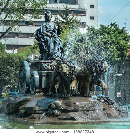 Cibeles Fountain Replica In Mexico City