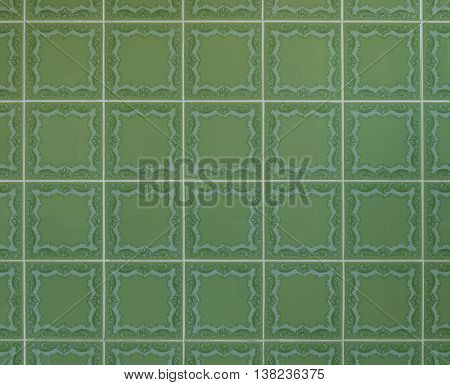 Nostalgic green wall tiles from the seventies