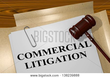 Commercial Litigation Concept