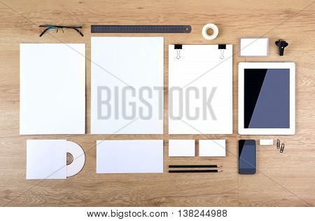 Photo. Template for branding identity. For graphic designers presentations and portfolios. mock-up, mockup, mock up stationary, stationery