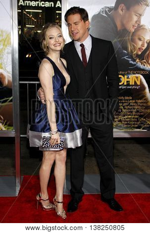 Amanda Seyfried and Channing Tatum at the World premiere of 'Dear John' held at the Grauman's Chinese Theater in Hollywood, USA on February 1, 2010.