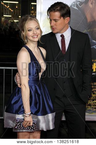 Channing Tatum and Amanda Seyfried at the World premiere of 'Dear John' held at the Grauman's Chinese Theater in Hollywood, USA on February 1, 2010.