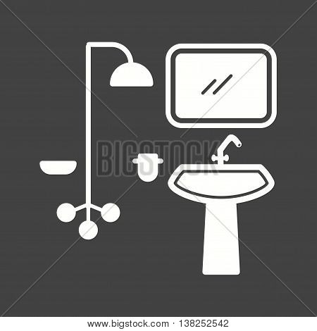 Washroom, tap, shower icon vector image.Can also be used for home. Suitable for mobile apps, web apps and print media.