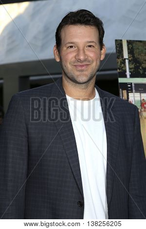 LOS ANGELES - JUL 11:  Tony Romo at the  Undrafted Los Angeles Premiere  at the ArcLight Hollywood on July 11, 2016 in Los Angeles, CA