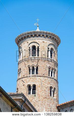 Bell  tower of Basilica San Vitale, ravenna, Italy
